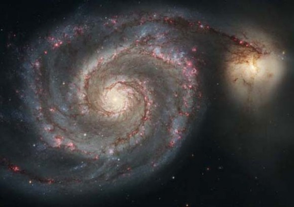 M51, the Whirlpool Galaxy, one of the more photogenic objects in the Messier catalog. (Credit: NASA/Hubble Heritage Project).