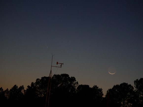 Comet PANSTARRS as seen from Gastonia, North Carolina on March 12, 2013. Credit and copyright: Jim Craig.