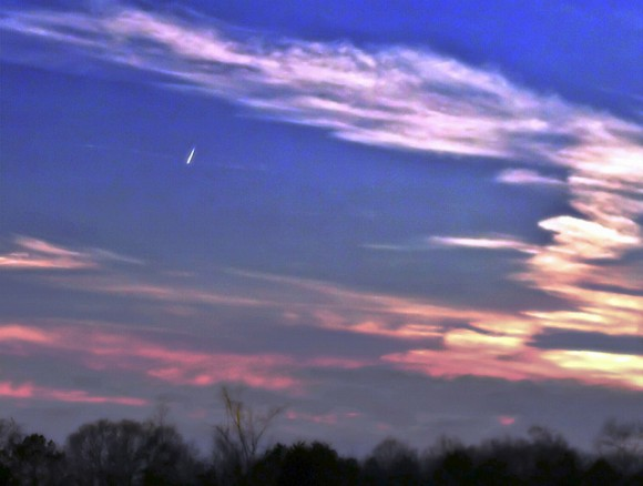 Comet PANSTARRS over Alabama USA. Credit an copyright: Kristen Lyles..