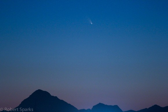 Comet PANSTARRS from Tucson, Arizona on March 11, 2013. Credit and copyright: Rob Sparks.