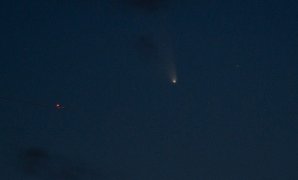 Another first view of Comet PANSTARRS from Valencia, Spain on March 14, 2013. Credit and copyright: Alejandro Garcia.