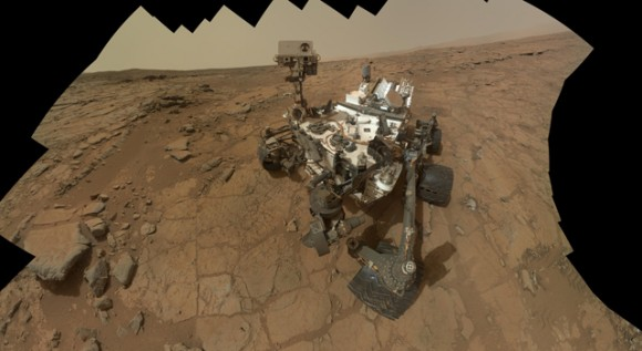 This self-portrait of NASA's Mars rover Curiosity combines 66 exposures taken by the rover's Mars Hand Lens Imager (MAHLI) during the 177th Martian day, or sol, of Curiosity's work on Mars (Feb. 3, 2013). Image credit: NASA/JPL-Caltech/MSSS