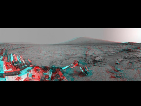 Mars Stereo View from 'John Klein' to Mount Sharp. Credit: NASA/JPL-Cal