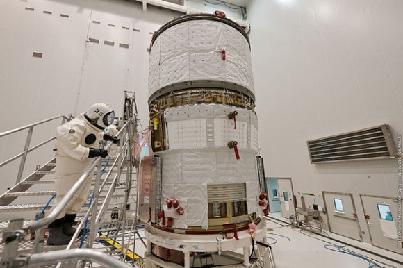 Europe's ATV 4 Albert Einstein prepares for its cargo-carrying mission to the I