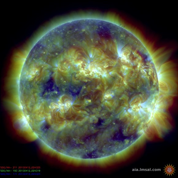 SDO/AIA image of the Sun from April 12