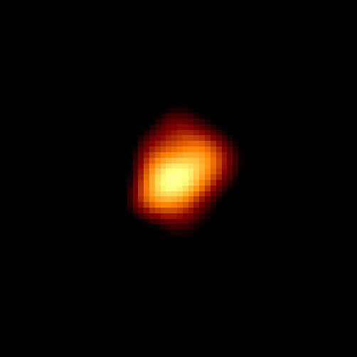 The variable star Mira as imaged by the Hubble Space Telescope. (Credit: NASA/STScl/Margarita Karovska at the Harvard-Smithsonian Center for Astrophysics).