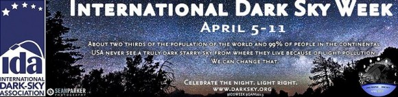 International Dark Sky Week banner, courtesy Sean Parker Photography.