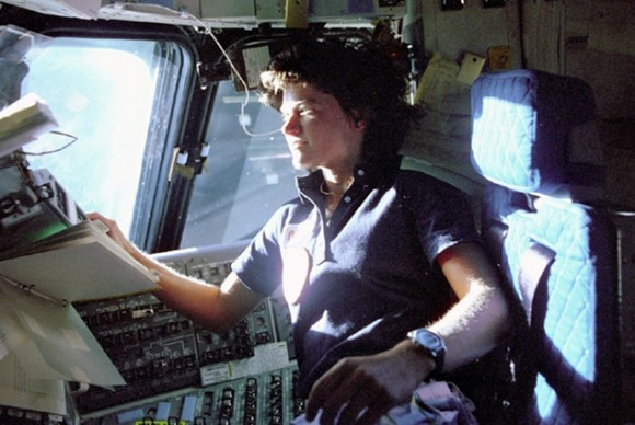 Dr. Sally Ride, the first American woman to fly in space