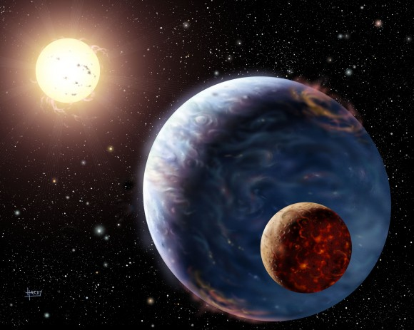 An artist's impression of an extra solar planet Photo credit: David A Hardy, astroart.org Copyright: STFC.