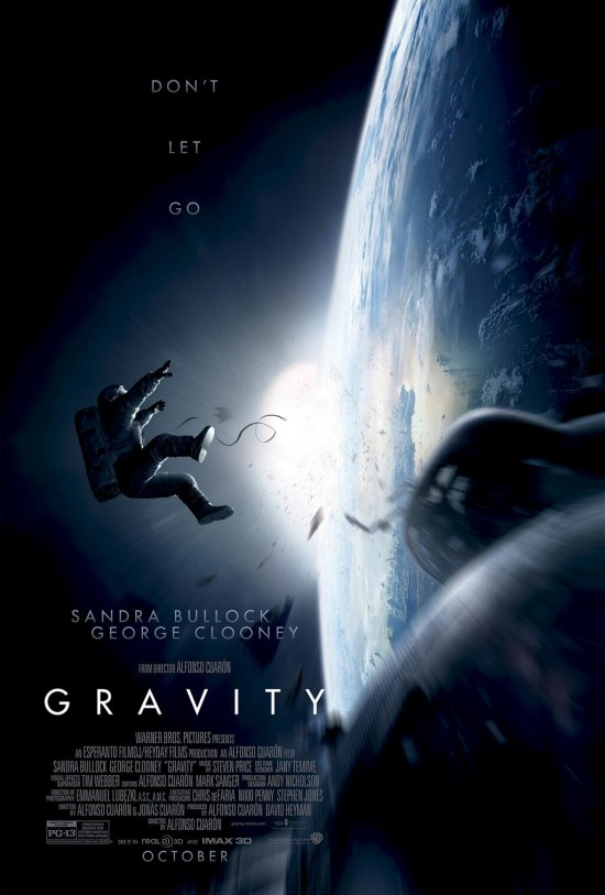 'Gravity' teaser poster. Via Warner Brothers.