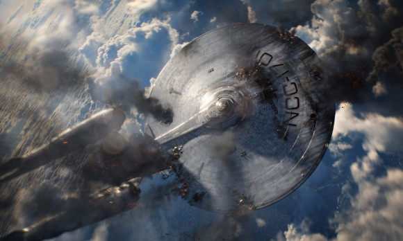 """NASA and Star Trek connect on NASA TV on May 16 for the premiere of """"Star Trek Into Darkness"""" on May 17, 2013 to celebrate the wonders of Space Exploration.  Still image of the fictional star ship 'Enterprise'.  Credit: Star Trek"""