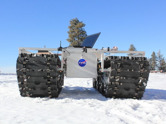 A GROVER prototype during testing in January 2013. Credit: Gabriel Trisca, Boise State University