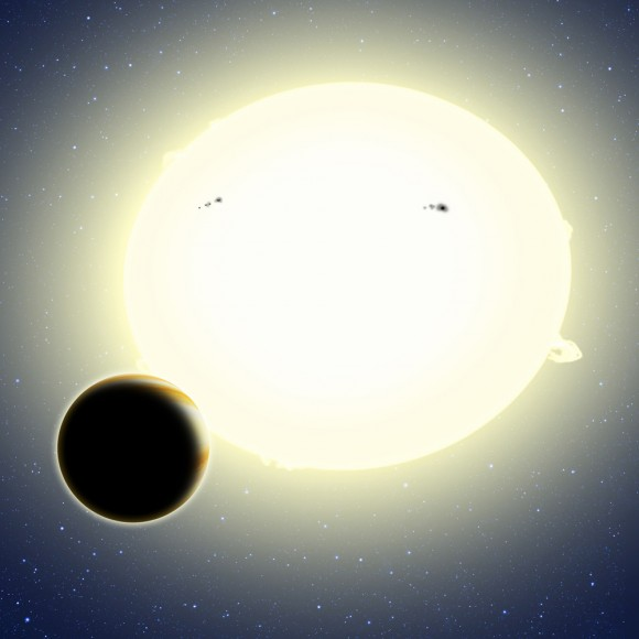 """Einstein's planet,"" formally known as Kepler-76b, is a ""hot Jupiter"" that orbits its"