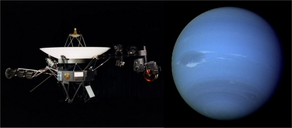 Voyager 2's encounter with Nepture. Credit: NASA