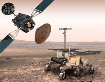 Elements of the ExoMars program 2016-2018.  Credit: ESA