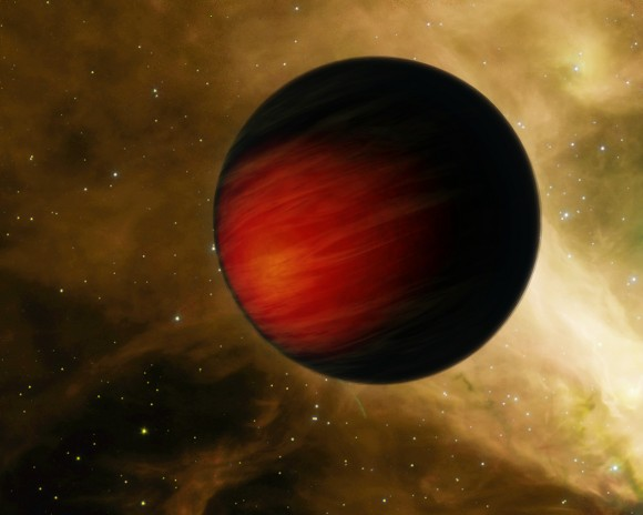 "Artist's concept of ""hot Jupiter"" exoplanet HD 149026b (NASA/JPL-Caltech)"
