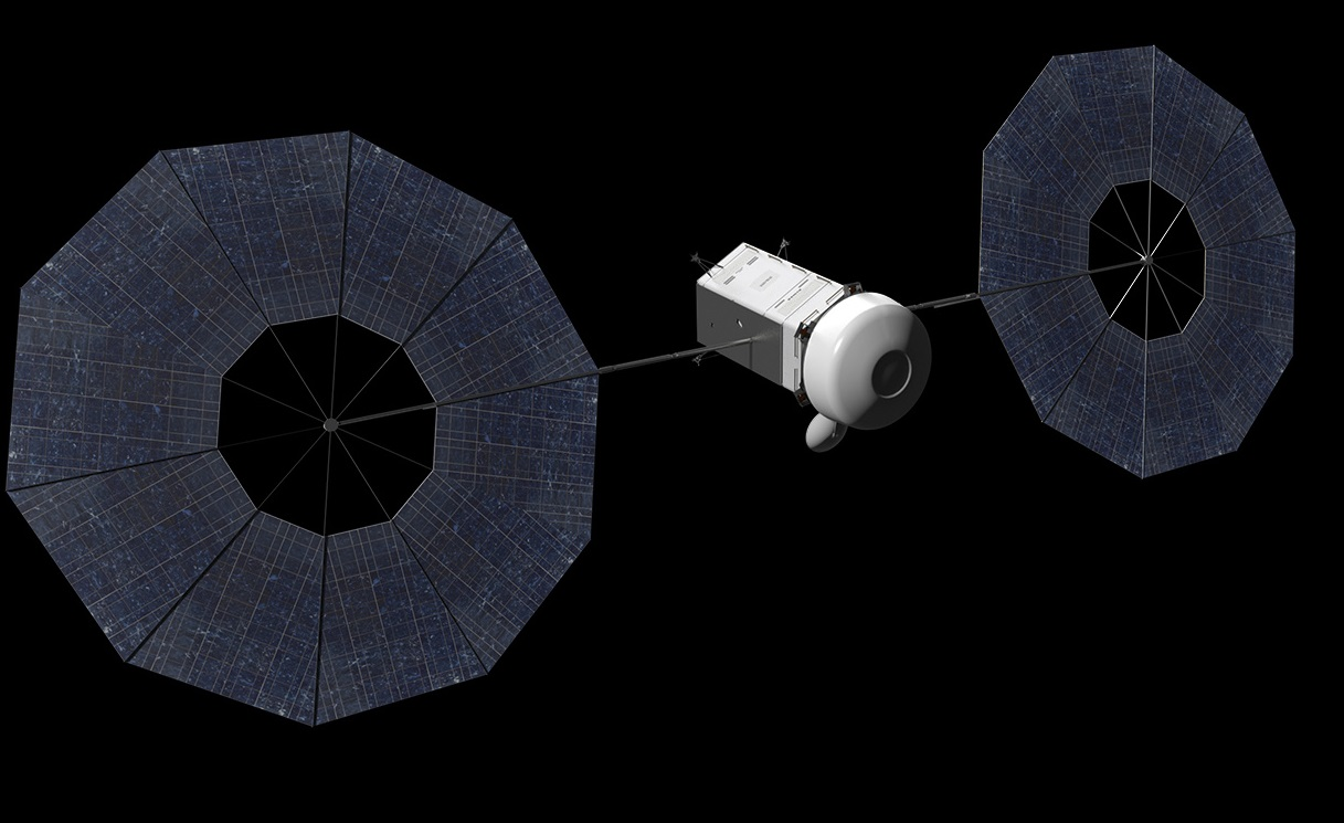 An artist's conception of a spacecraft designed to pick up an asteroid. Credit: NASA/Advanced Concepts Laboratory