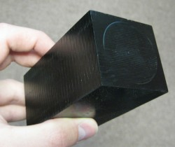 A block of tissue-equivalent plastic (Credit: UNH)