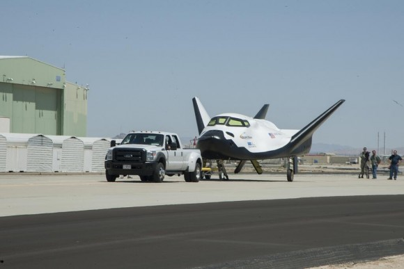 Sierra Nevada Corporation's Dream Chaser successfully rolls through two tow tests at NASA's Dryden Flight Research Center in California in preparation for future flight testing