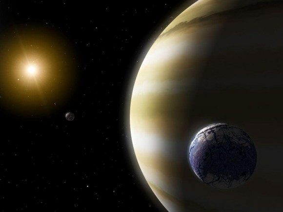 An artist's conception of a habitable exomoon. Credit: NASA