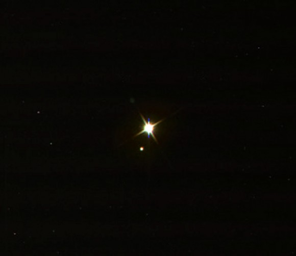 Earth and Moon imaged from Cassini on July 19, 2013
