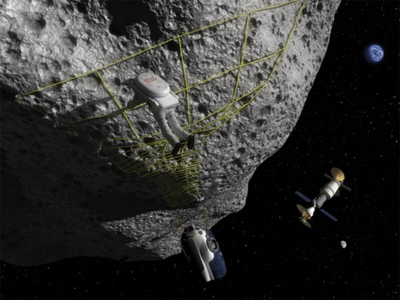 Landing on asteroids will be a risky endeavor, perhaps aggravated by changes in asteroid dust when it's touched. Credit: NASA Near Earth Object Program