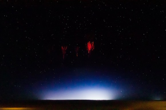 Red sprite lighting, taken on August 12, 2013 over Red Willow County, Nebraska, US as part of a sprite observing campaign. Credit and copyright: Jason Ahrns.