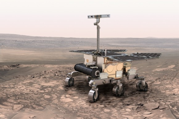 An artist's conception of the European Space Agency's ExoMars rover, scheduled to launch in 2018. Credit: ESA