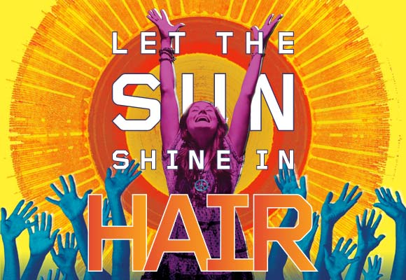 Broadway poster for HAIR, the musical.