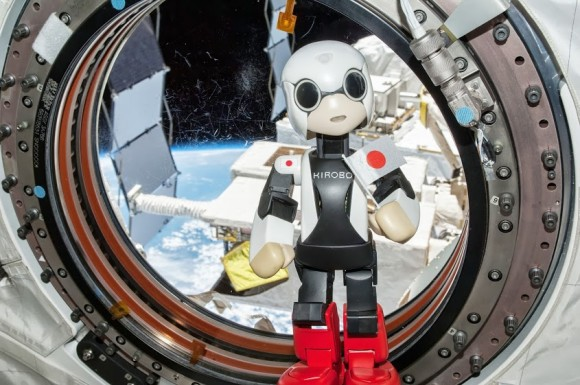 The Kirobo talking robot on the ISS. Credit: Toyota.
