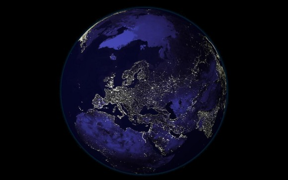 The Earth at night. What will it look like 100 years from now? Image credit: NASA-NOAA