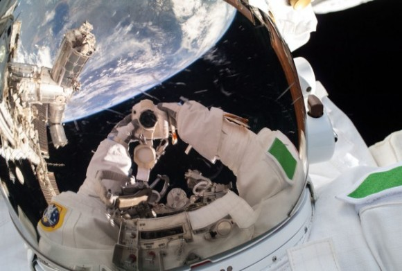 Self-portrait of Expedition 36/37 European Space Agency astronaut Luca Parmitano during a July 2013 spacewalk. Credit: NASA