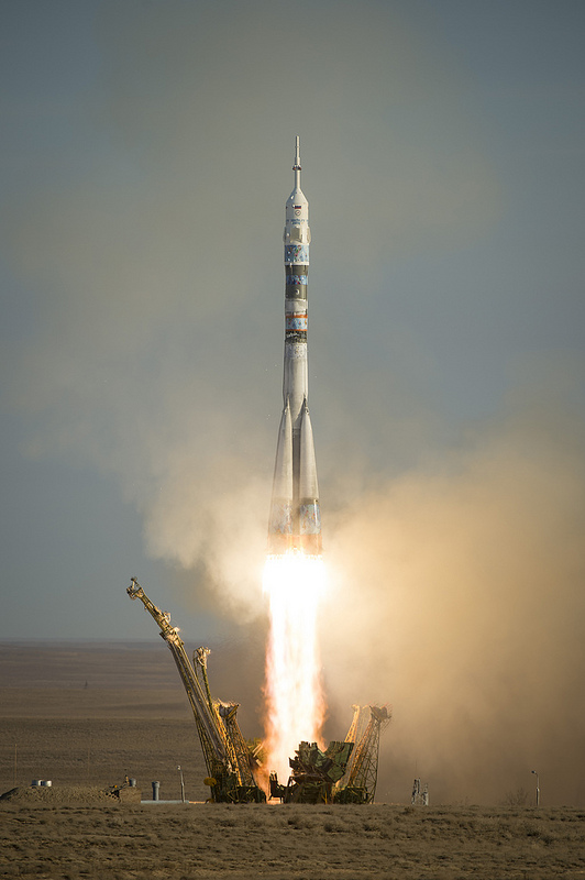 The Soyuz TMA-11M rocket is launched with Expedition 38/39. Credit: NASA/Bill Ingalls.