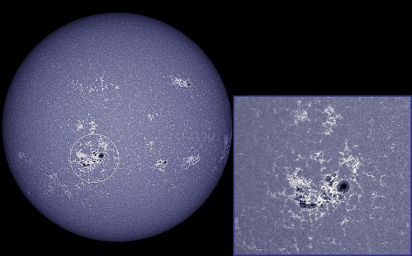Monster sunspot group 1890 now faces Earth. Taken on Nov. 8, 2013. Credit and copyright: Ron Cottrell.