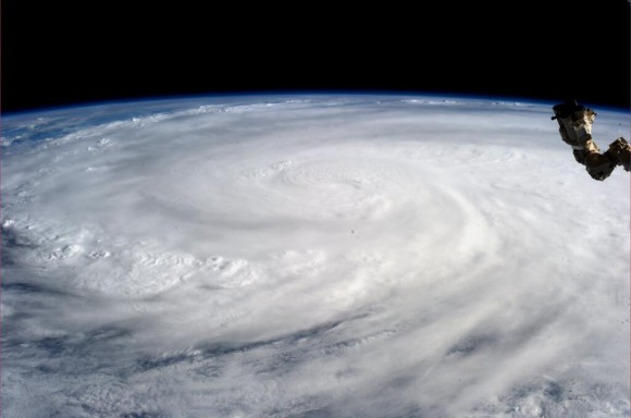 Super Typhoon Haiyan over the Philippines on November 9, 2013 as imaged from Earth orbit by NASA Astronaut Karen Nyberg aboard the International Space Station.  Credit: NASA/Karen Nyberg