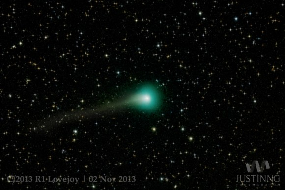 Comet Lovejoy on November 2, 2013, as seen from Singapore. Credit and copyright: Justin Ng.