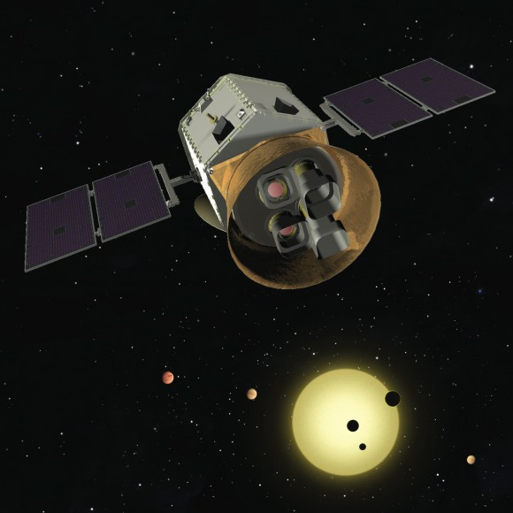 Artist's depiction of TESS. Image Credit: TESS team.
