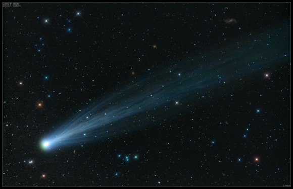 Comet 2012 S1 ISON in outburst, seen on November 15, 2013. Credit and copyright: Damian Peach.