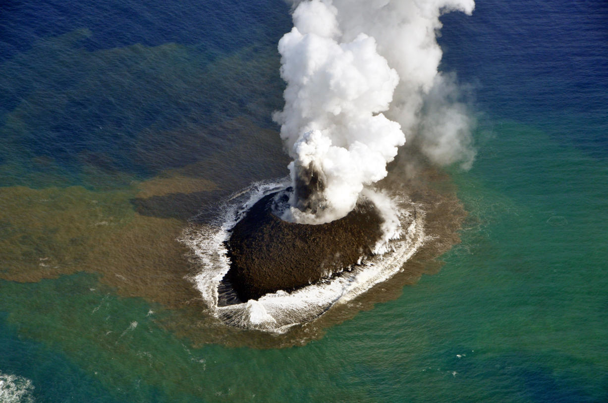 Volcanic Blast Forms New Island Near Japan | Mrs. Andrechek