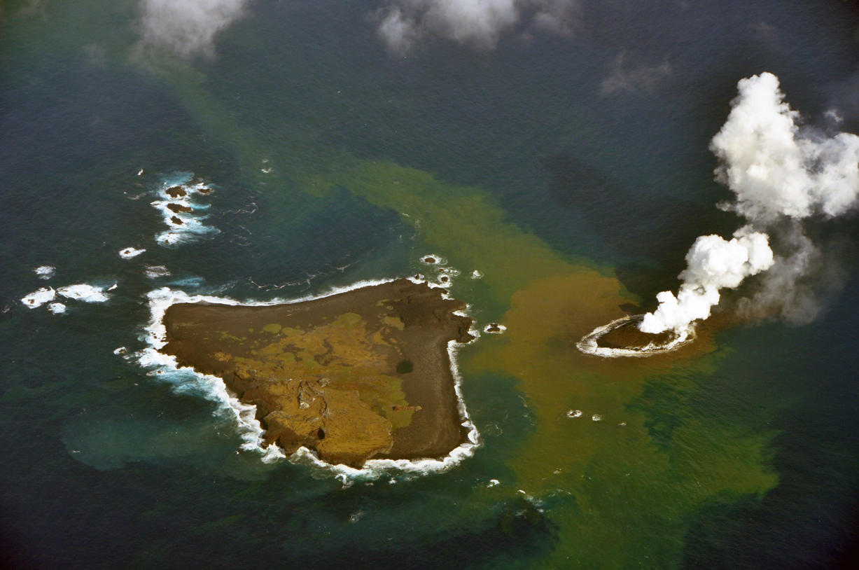 Volcanic Blast Forms New Island Near Japan