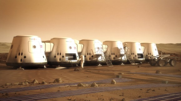 Artist's conception of Mars One human settlement. Credit: Mars One/Brian Versteeg