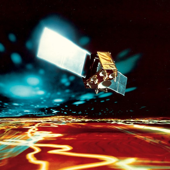 Artist's conception of ESA's OTS-2 telecom satellite, which was retired from geostationary orbit in 1991 after nearly 13 years of service. Credit: ESA