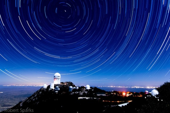 Astrophoto: Star Trails Over Kitt Peak