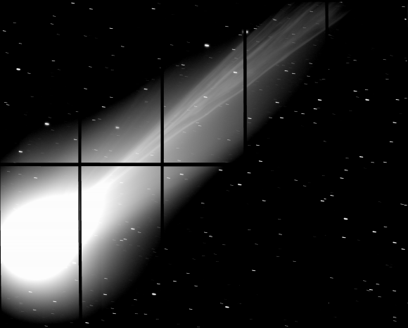 Subaru Telescope Captures the Fine Details of Comet Lovejoy's Tail