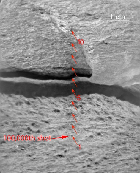 Zot! Curiosity Punches Laser Hole No. 100,000 On Mars