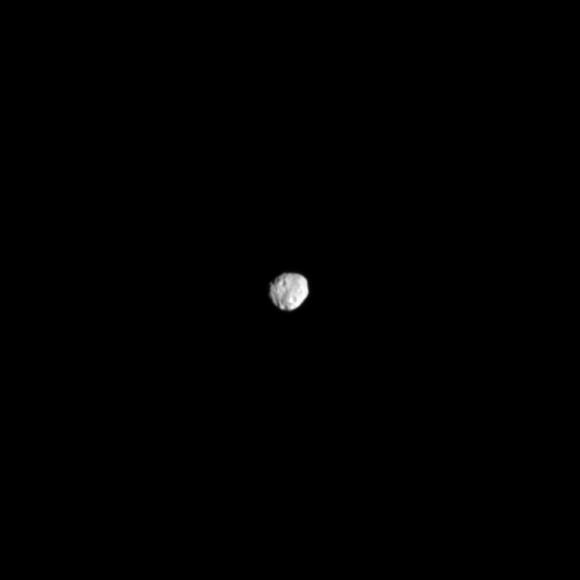 Cassini narrow-angle camera image of Janus from Sept. 10, 2013 (NASA/JPL-Caltech/SSI)