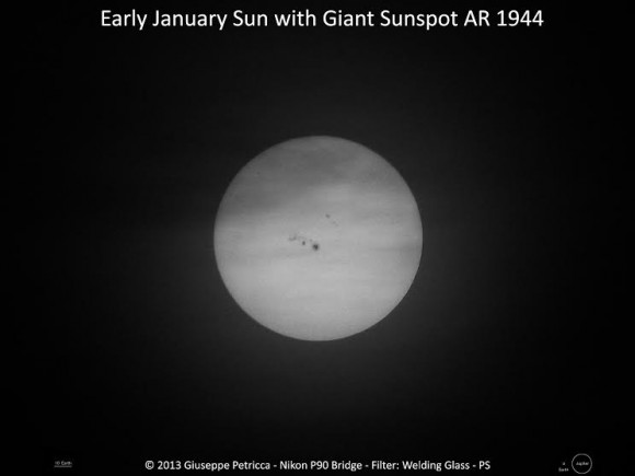 AR144 as seen on January 7, 2014.