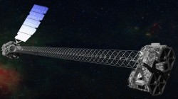 Artist's concept of NuSTAR in orbit. (NASA/JPL-Caltech)