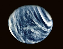 On Feb. 5, 1974, NASA's Mariner 10 mission took this first close-up photo of Venus during 1st gravity assist flyby. Credit: NASA