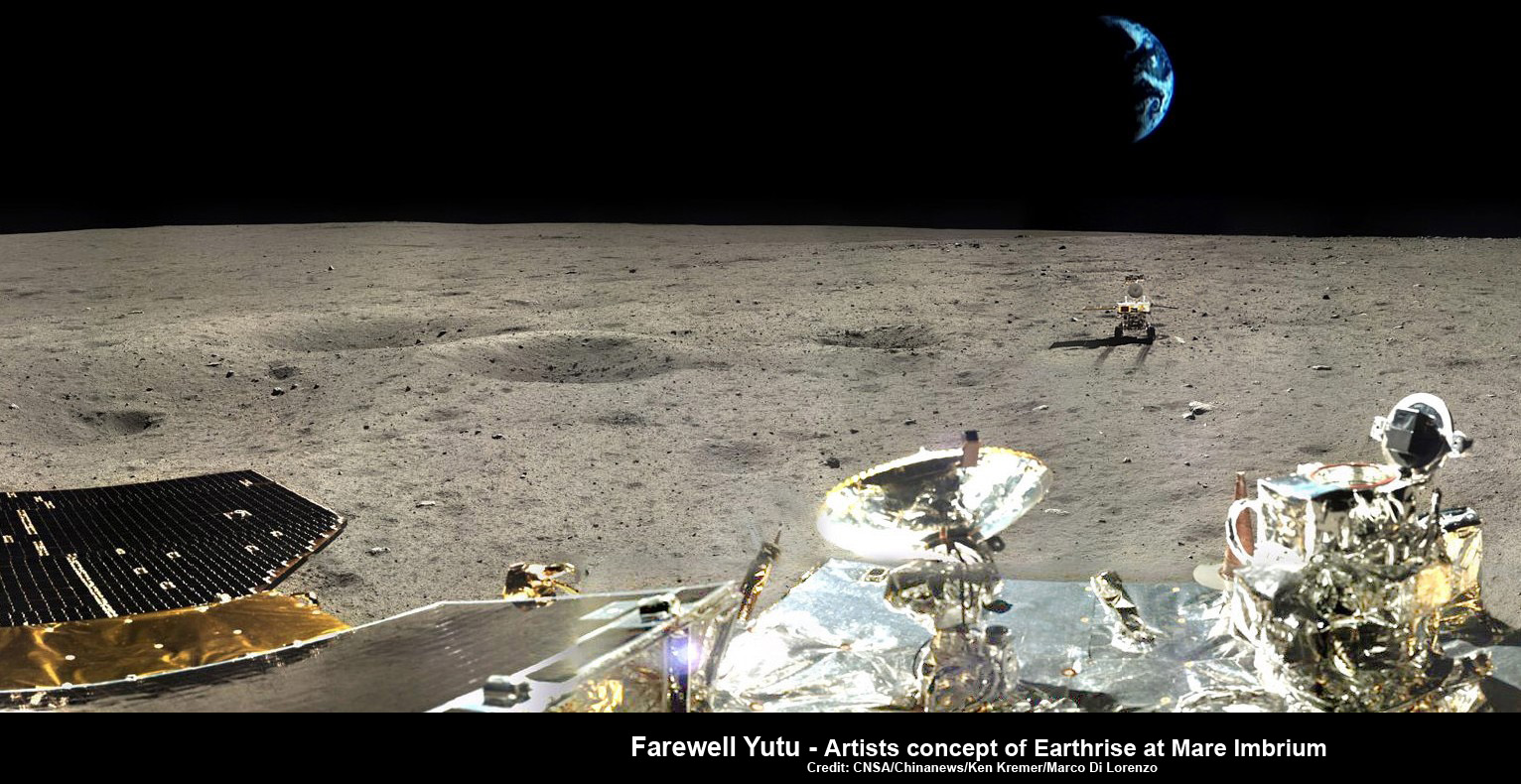 Earth Bids China S Yutu Moon Rover Farewell Forever